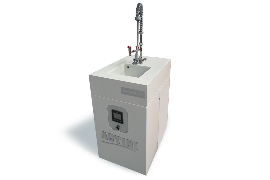 ACTINI Sink decontamination system