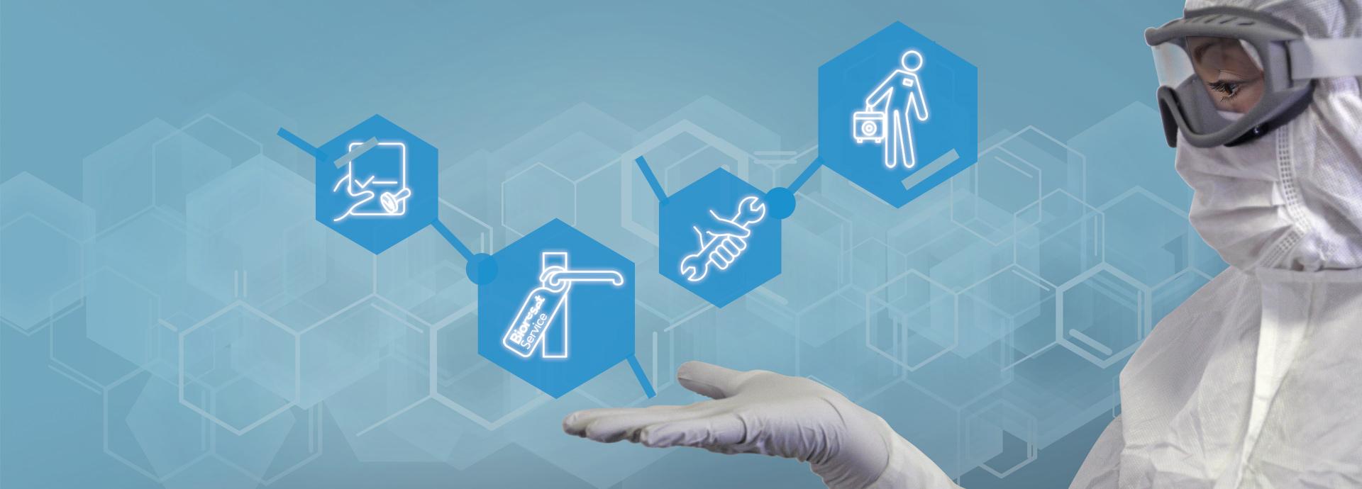Servizi di biodecontaminazione H2O2, validazione cicli, calibrazione e manutenzione, noleggio strumenti