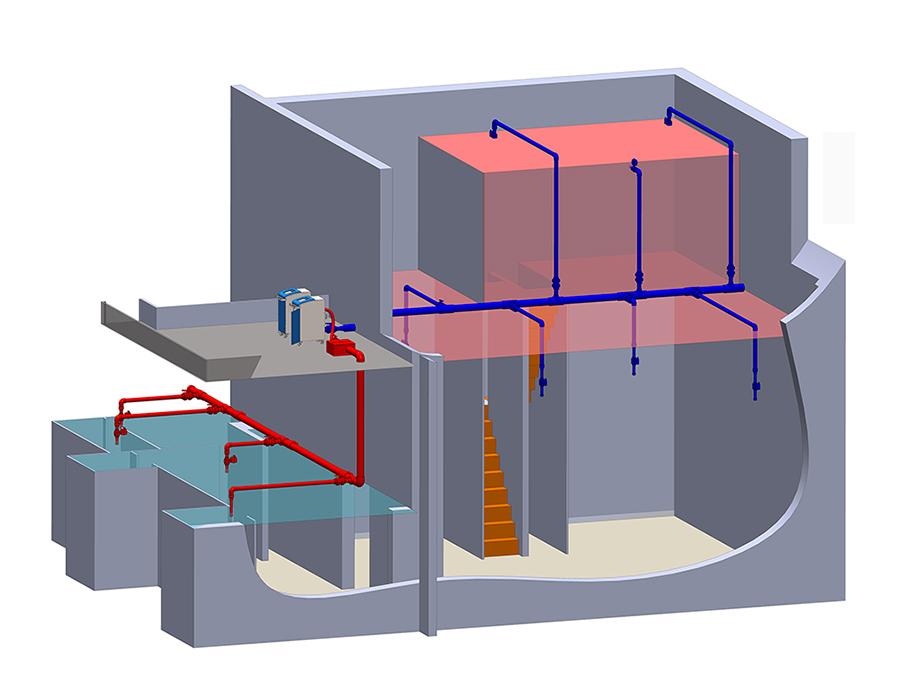 Sistema di piping H2O2 Bioreset COMBO